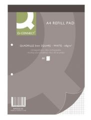 Q CONNECT KF02233  Refill Pads A4 Quadrille 5Mm 10Pk